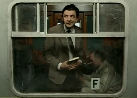 Mr-Bean-im-Zug