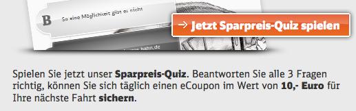 Das Sparpreis-Quiz der Deutschen Bahn