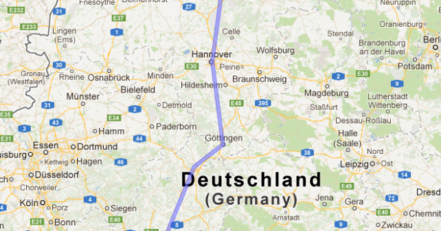 Die Deutsche Bahn in Google maps