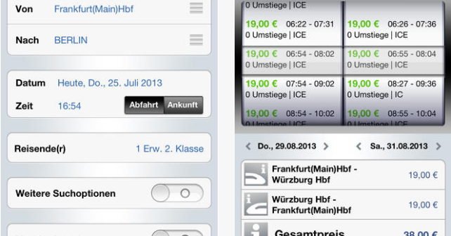 Die DB Navigator App für iPhone