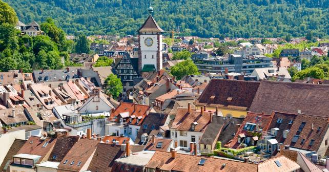Freiburg Panorama der Stadt