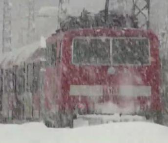 Winter bei der Bahn