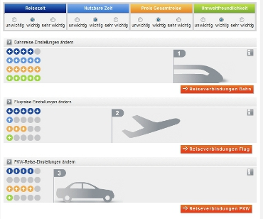 Verkehrsmittelvergleich