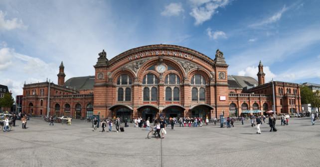 Außenpanorama des Hauptbahnhof Bremen