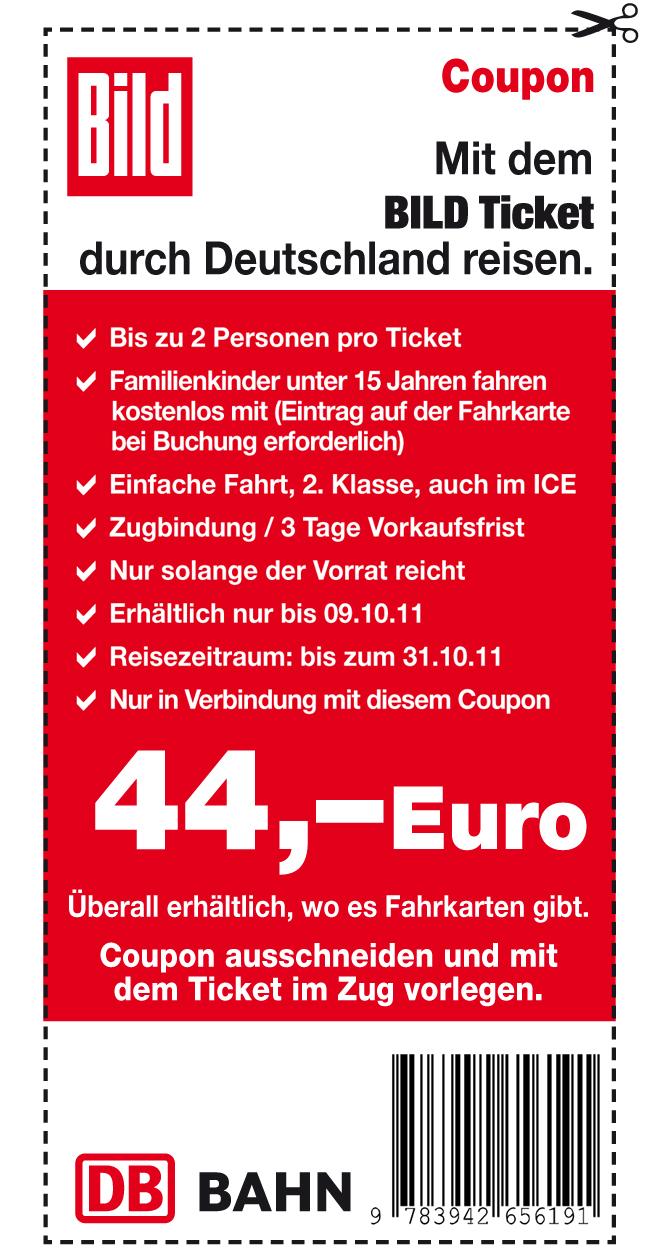 bild freunde ticket 2 personen f r 44 durch deutschland. Black Bedroom Furniture Sets. Home Design Ideas