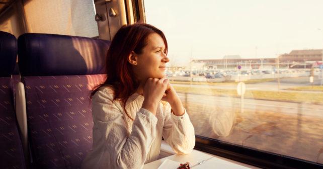 1 Klasse Bahn Reisende