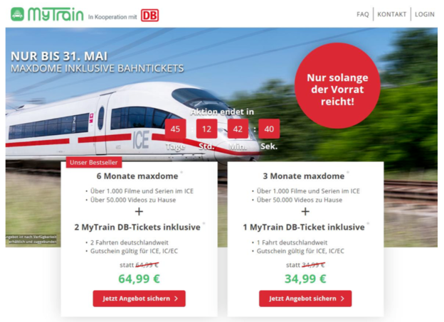 MyTrain DB-Ticket Angebot