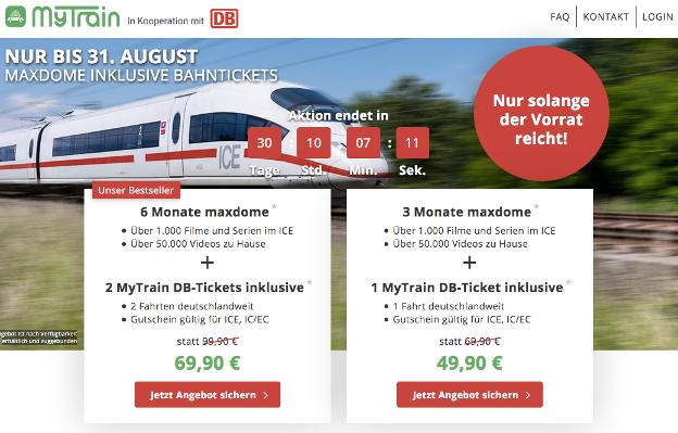 MyTrain DB-Ticket Angebot mit Preisen und Konditionen