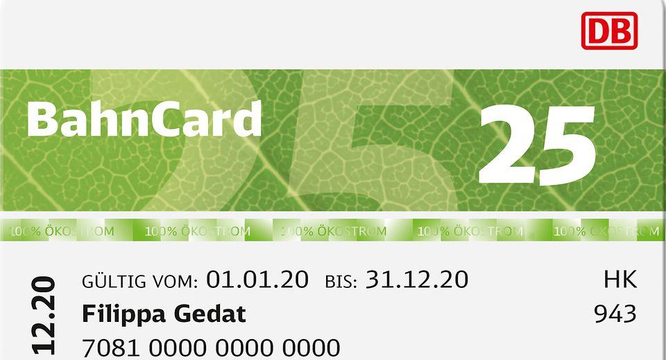 BahnCard 2020